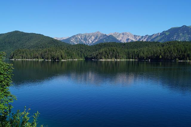 Eibsee, Bavaria, Lake, Water, Mirroring, Nature