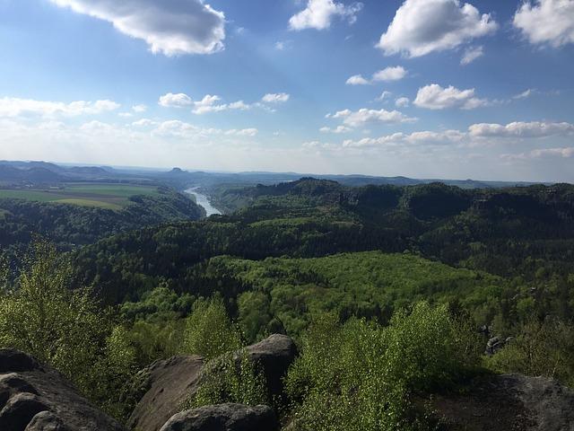 Saxon Switzerland, Elbe, Landscape, Nature, Elbe Valley