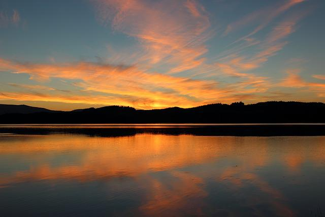 Dusk, Sunset, Landscape, Summer, Nature, Lake, Evening