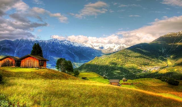 Fiss, Tyrol, Mountains, Summer, Sky, Outlook, Nature