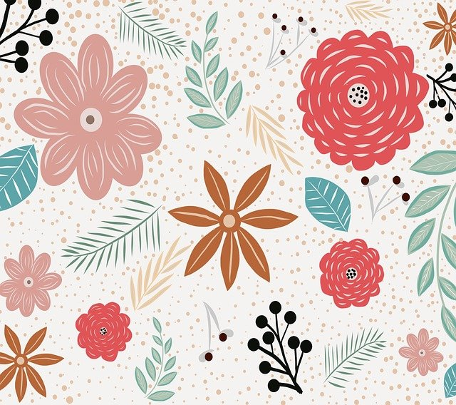 Nature, Shape, Leaves, Flowers, Art, Pattern, Colorful