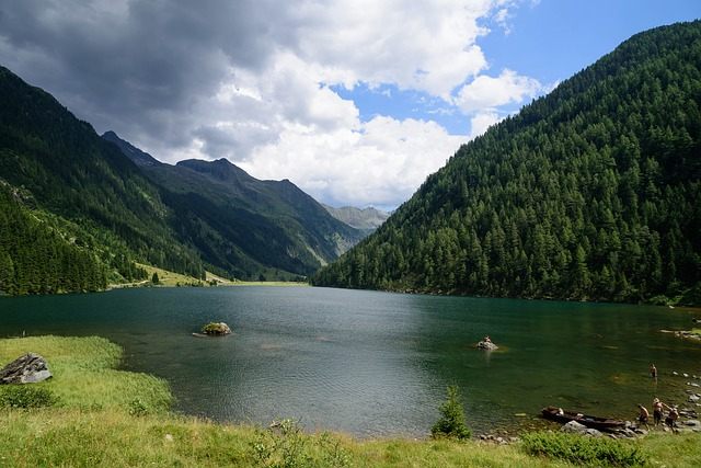 Mountains, Lake, Landscape, Water, Forest, Sky, Nature