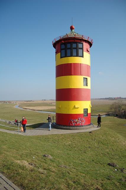 Lighthouse, North Sea, Sky, Sea, Tower, Nature, Germany