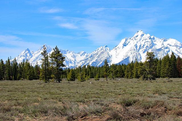 Grand Teton, Nature, Mountain, Snow, Landscape, Sky