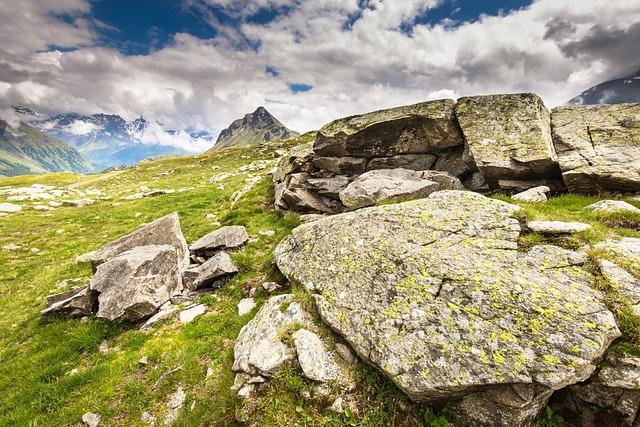 Outdoors, Nature, Grass, Green, Blue, Mountains