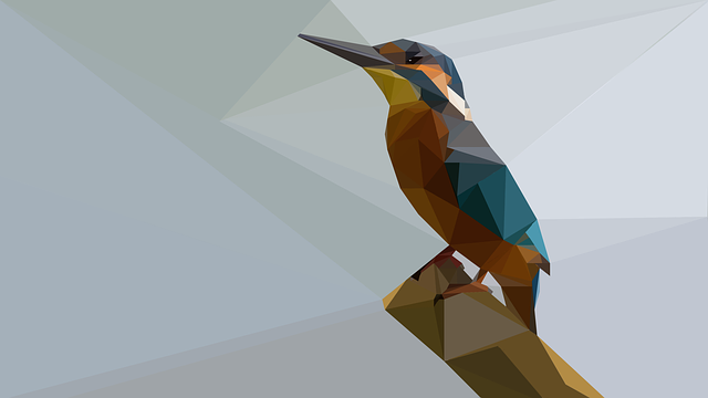 Kingfisher, Low Poly, Lowpoly, Drawing, Bird, Nature