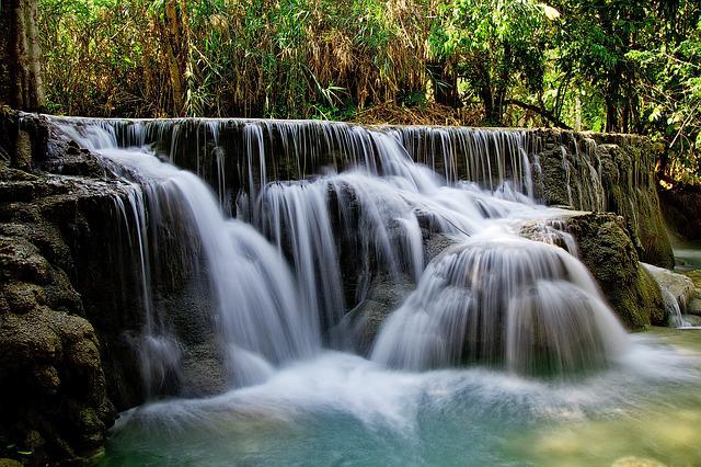 Kuang Si Falls, Waterfall, Water, Laos, Nature