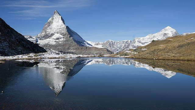Snow, Mountain, Waters, Panorama, Nature, Lake
