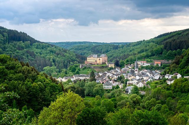 Castle, Landscape, Nature, Architecture, Eifel