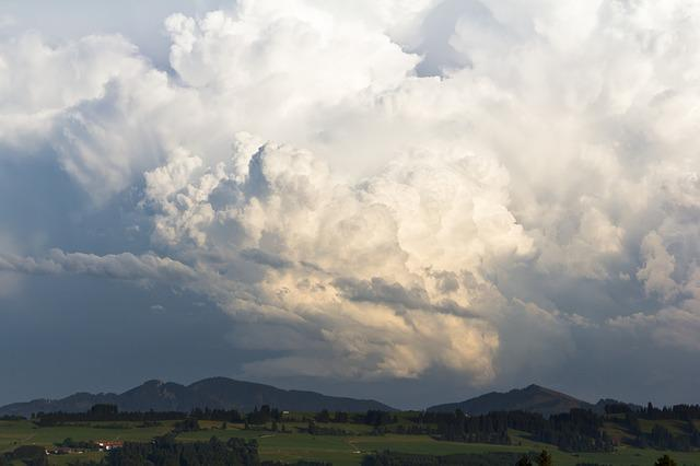 Nature, Landscape, Cloud, Sky, A Thunderstorm Cell