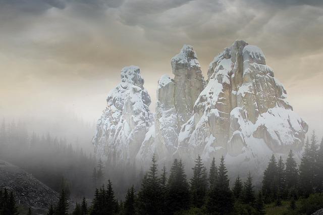 Mountain, Snow, Nature, Landscape, Panorama, Fog