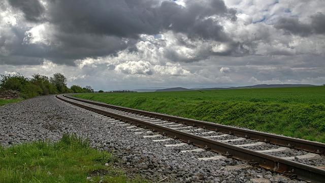 Panorama, Gleise, Landscape, Railway, Nature, Train