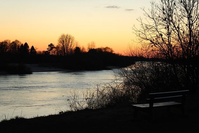 Nature, Tree, Dawn, Autumn, Landscape, Sunset, River