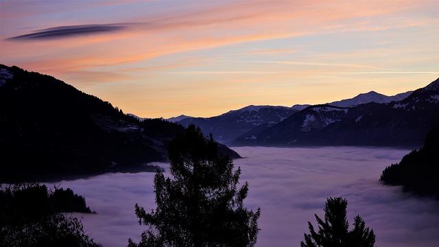 View, Sunrise, Landscape, Nature, Vision, Mountains
