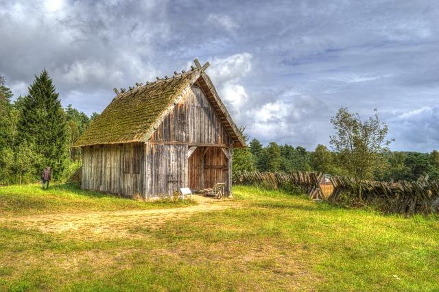 Barn, Lüneburg Heath, Nature, Heide, Heather, Heathland