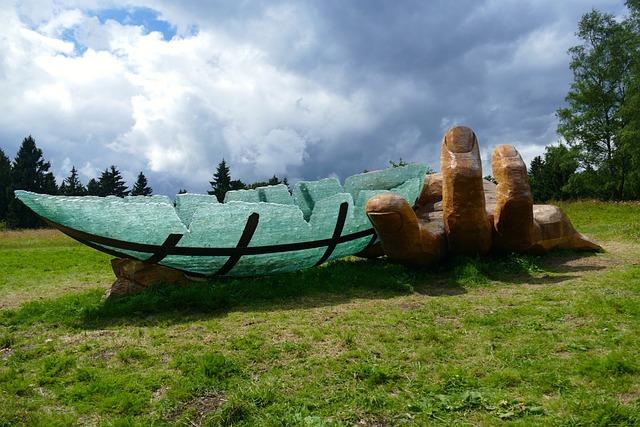 Ark, Art, Glass, Boot, Noah, Meadow, Green, Nature