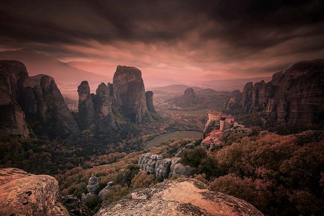 Meteora, Greece, Monastery, Landscape, Nature, Mountain
