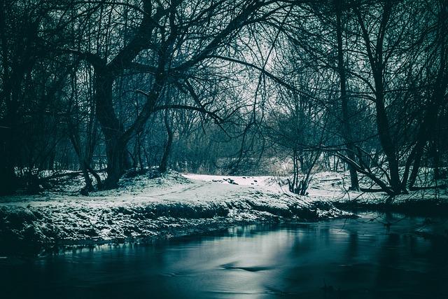 River, Winter, Mood, Nature, Landscape