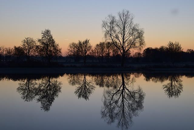 Sunrise, Lake, Nature, Morgenrot, Mood, Morgenstimmung
