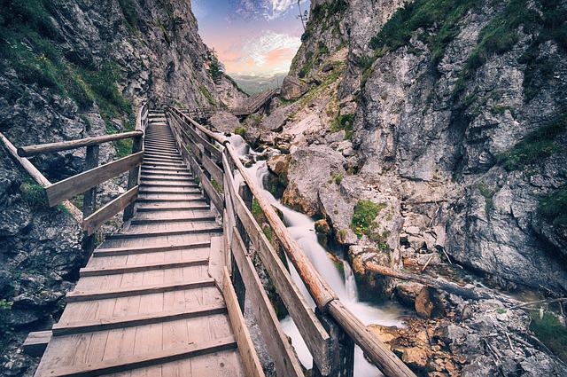 Bridge, Mountain, Travel, Landscape, Nature, Outdoor