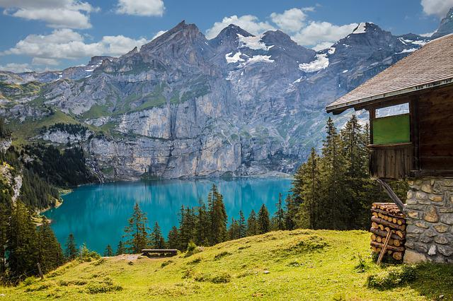 Hut, Lake, Mountains, Mountain Hut, Landscape, Nature