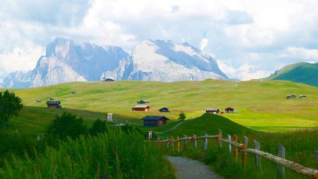 Alm, Nature, Landscape, Mountains, Alpine Huts, Wide