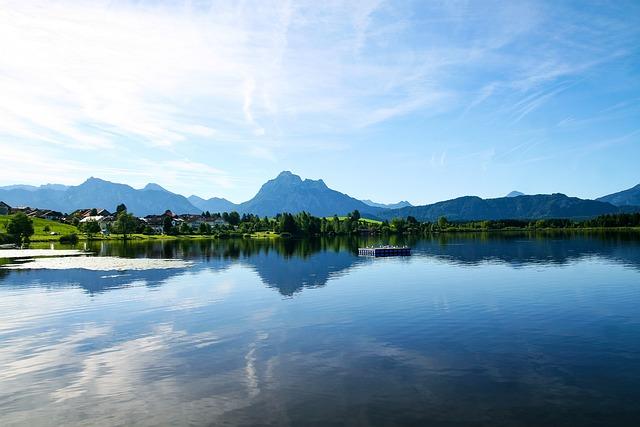 Bavaria, Allgäu, Lake, Mountains, Water, Nature