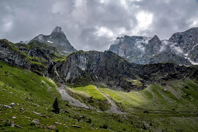 Mountains, Alpine, Landscape, Nature, Switzerland, Sky