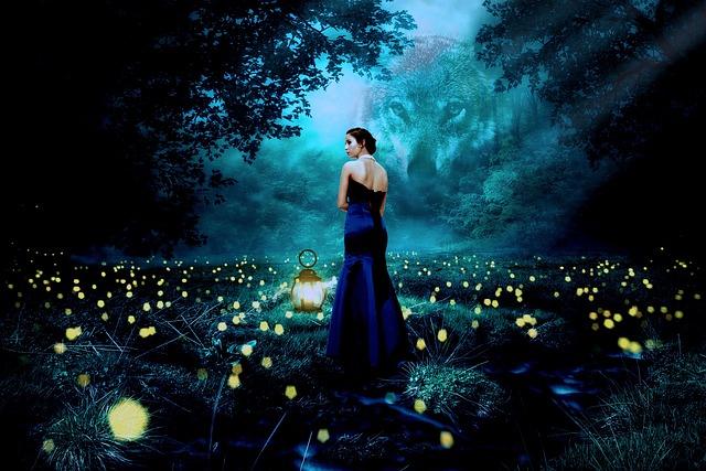Nature, People, Light, Wolf, Lantern, Mysterious