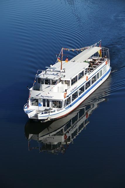 Motor Ship, Tourist Ship, Oker, Water, Nature