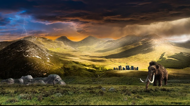 Nature, Sunset, Panoramic, Outdoors, Landscape, Mammoth