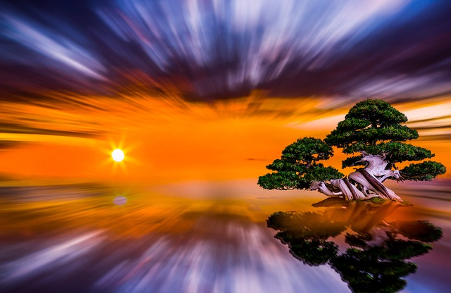 Sunset, Himmel, All, Sun, Nature, Panoramic, Dawn