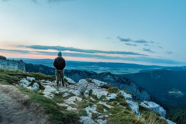 Nature Photographer, Young Man, Creux Du Van, Sunset