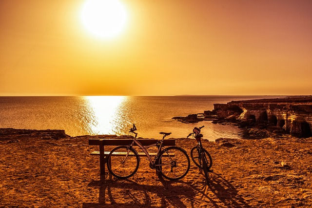 Bicycle, Afternoon, Sun, Landscape, Nature, Recreation