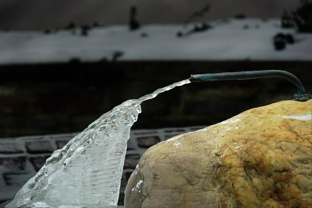 Nature, Waters, Rock, Ice, Stone, Winter
