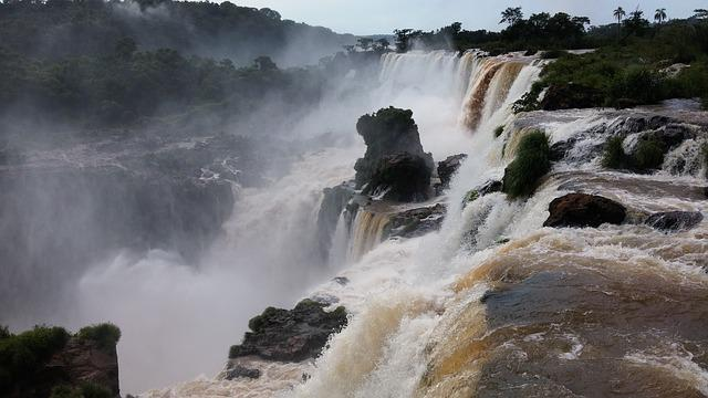 Brazil, Landscape, Nature, Rocks, Waterfalls