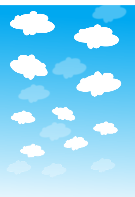 Clouds, Blue, White, Sky, Nature, Fluffy, Scenic