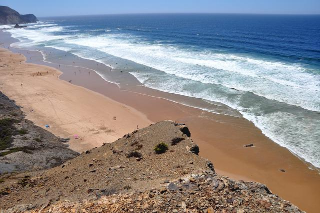 Beach, Sea, Nature, Landscape, Atlantic Coast, Algarve