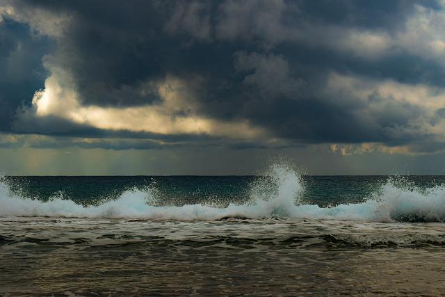 Beach, Sea, Wave, Splash, Nature, Landscape, Sky