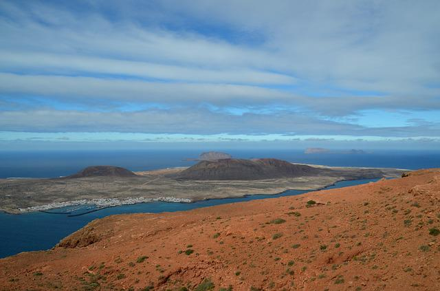 Island, Sea, Coast, Dunes, Rock, Lanzarote, Nature