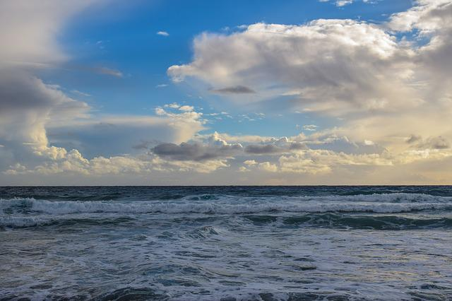 Sky, Sea, Clouds, Beach, Nature, Landscape, Dusk