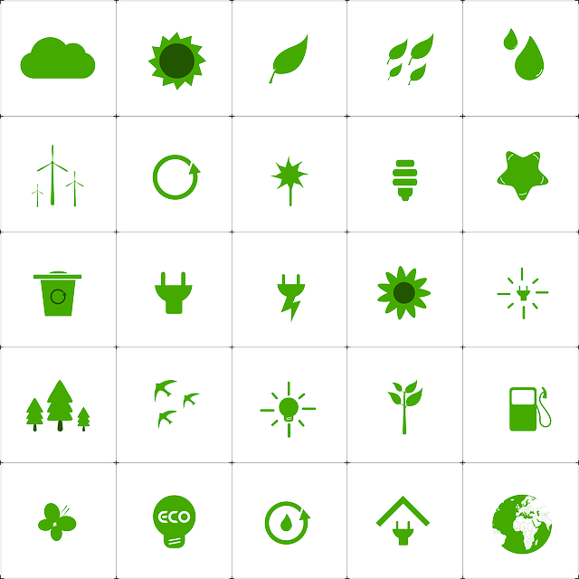 Green Living, Ecology, Environment, Icons, Set, Nature