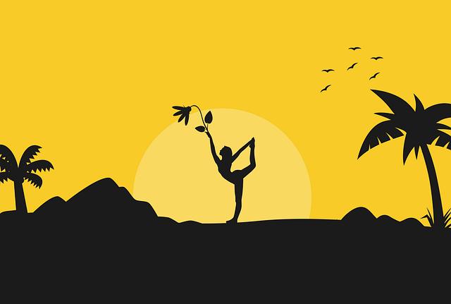 Yoga, Pose, Silhouette, Sunrise, Nature, Health