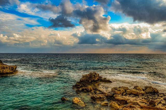 Rocky Coast, Sea, Nature, Landscape, Sky, Clouds