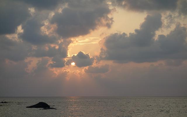 Sunset, Waters, Sea, Sun, Nature, Sky, Beach, Cloud