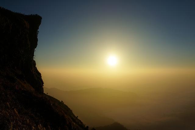 Mountain, Sunrise, Sky, Nature, Landscape, Sun, Travel