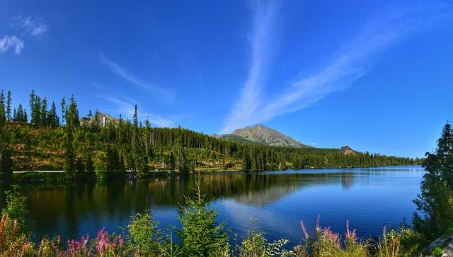 Nature, Lake, Water, Sky, Landscape, Slovakia