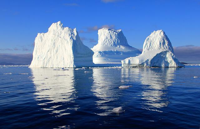 Iceberg, Water, Sea, Mirroring, Nature, Solar