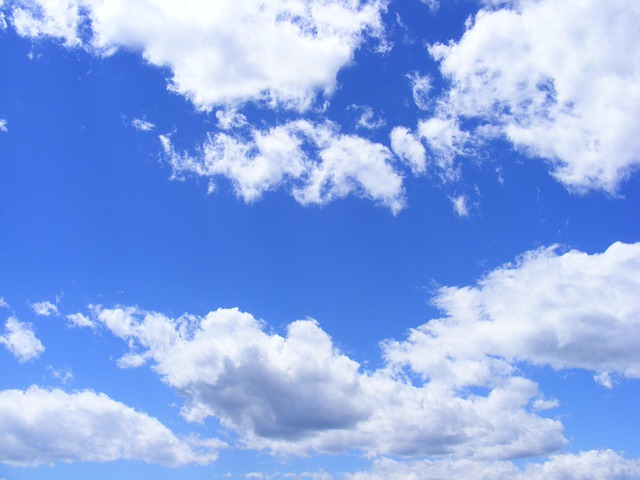 Blue, Clouds, Day, Fluffy, Sky, Summer, Nature