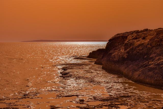 Sunset, Sea, Seashore, Dusk, Horizon, Landscape, Nature